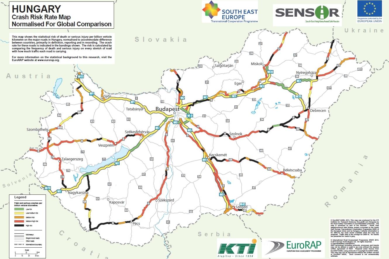térkép 2020 Térképen a legveszélyesebb hazai útszakaszok – Autónavigátor.hu