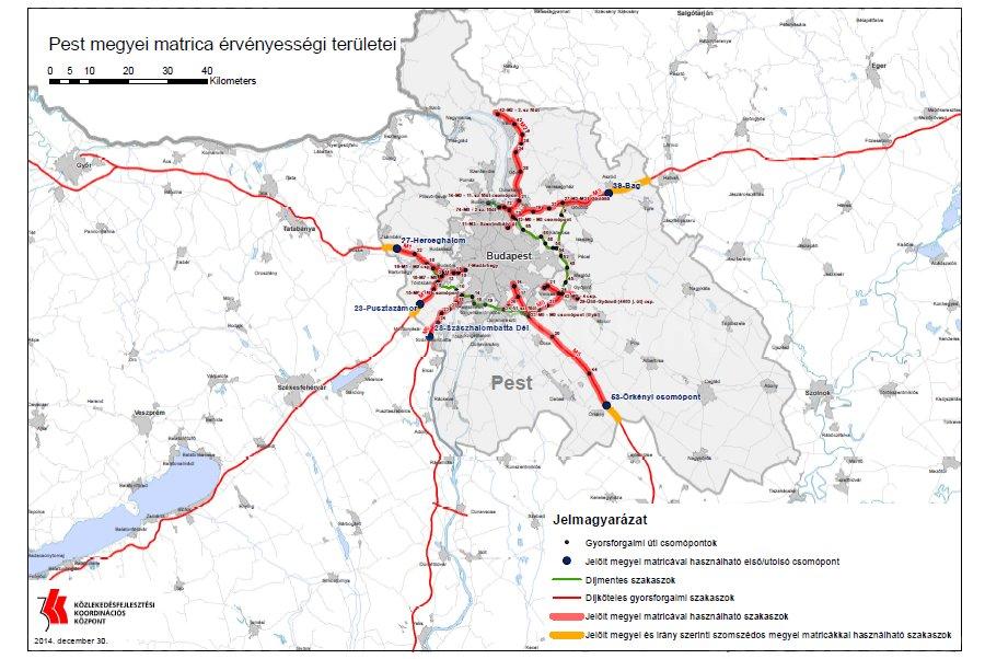 útdíj budapest térkép Útdíj 2015: íme az új díjtáblázat, térképen a fizetős szakaszok  útdíj budapest térkép