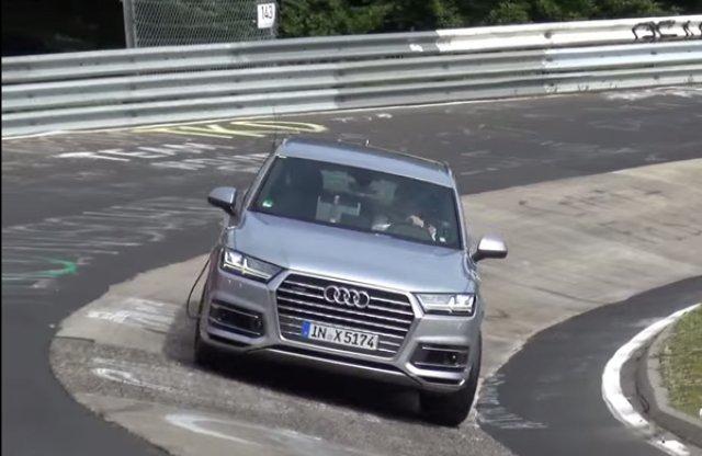 Teszt közben verték oda az Audi SQ7-est a Nürburgringen