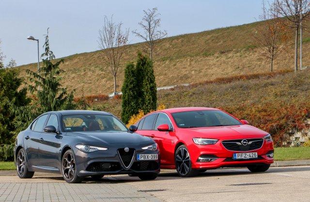 Mérkőzhetnek egymással? Alfa Giulia Veloce vs. Opel Insignia T.