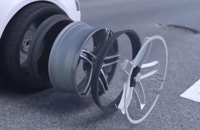 Itt egy megoldás, ami megvédi a gumit a kátyúktól
