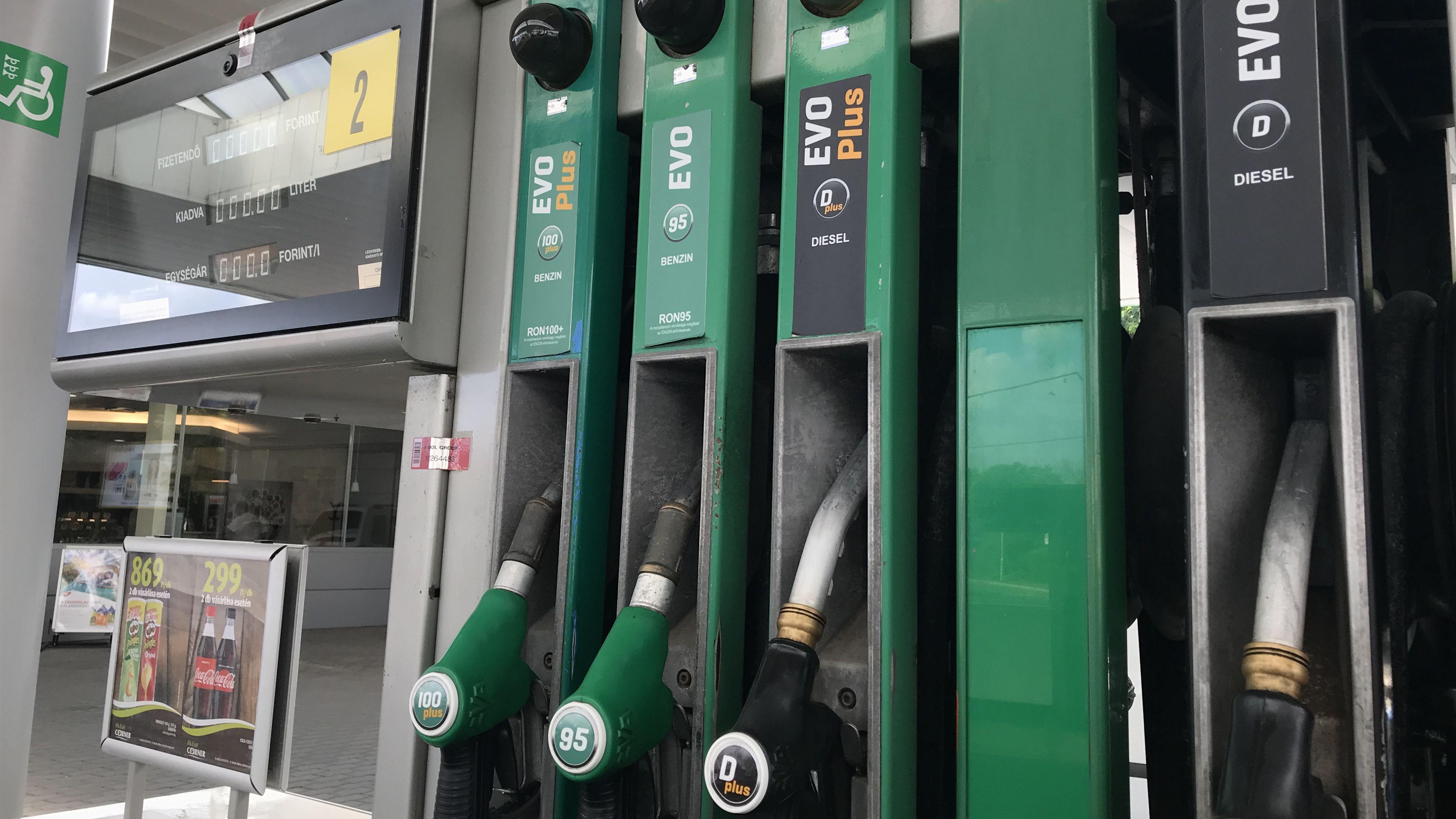 Benzin tankolás