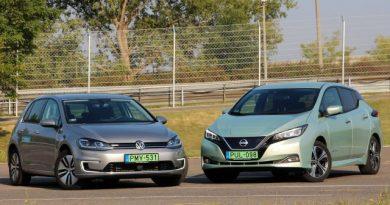 Melyik a jobb? A Nissan Leaf vagy a VW e-Golf? Megnéztük