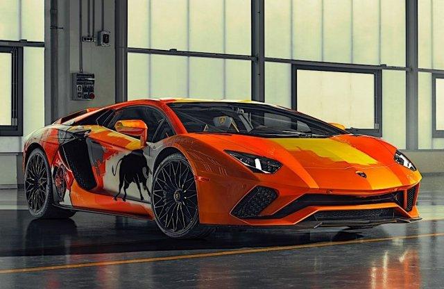 Graffiti fallá vált a Lamborghini Aventador