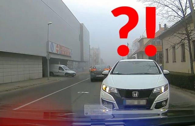 Szembe a rendőrautóval? Nem szerencsés!