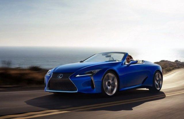 Minden idők második legdrágább japán autója a Lexus LC kabrió