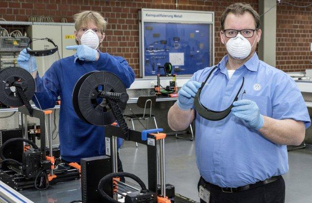 3D-s nyomtatással küzd a Volkswagen a koronavírus ellen