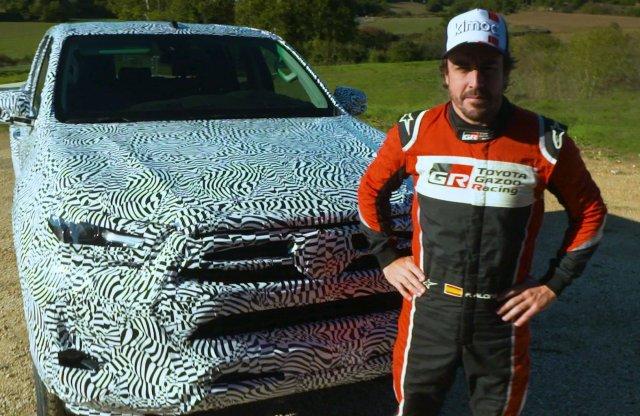 Alonso már nyúzza az új Toyota Hiluxot