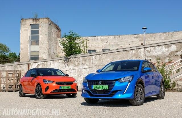 Mint két különböző tojás – Opel Corsa-e, Peugeot e-208