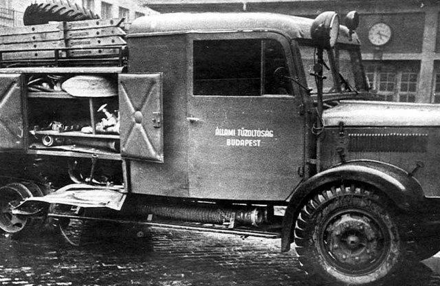Budapesti tűzoltók vonulása 1920-ból!