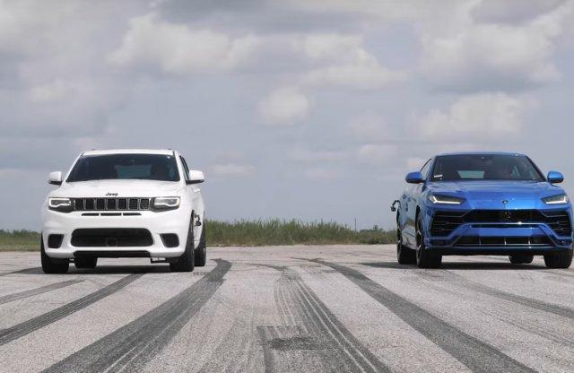 Lamborghini Urus vs. Jeep Cherokee Trackhawk. Melyik a gyorsabb?