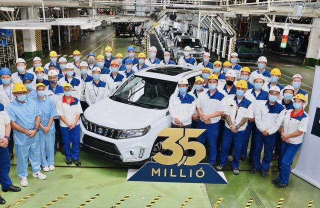 Ünnepel a Suzuki: elkészült a 3,5 milliomodik esztergomi autójuk