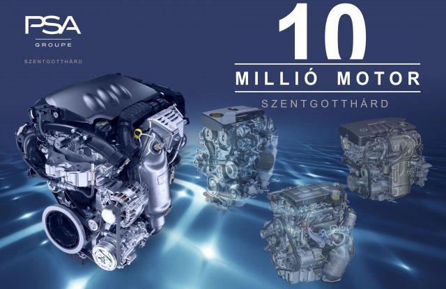 Elkészült a tízmilliomodik motor Szentgotthárdon