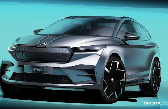 Új képek jelentek meg a Skoda villany SUV-járól