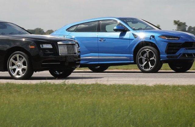 Ki nyeri a szokatlan gyorsulási versenyt? A Rolls vagy a Lambo?