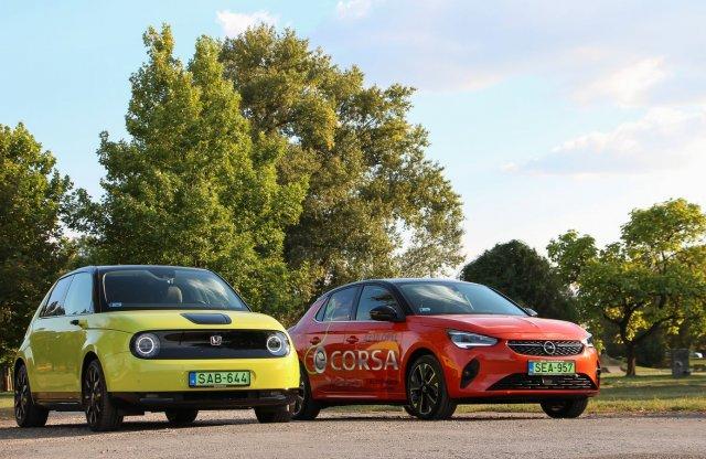 Villámos a villamos ellen? Honda e vs. Opel Corsa-e összevetés