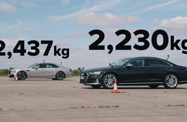 Audi S8 vs. Bentley Flying Spur keresztben és hosszában