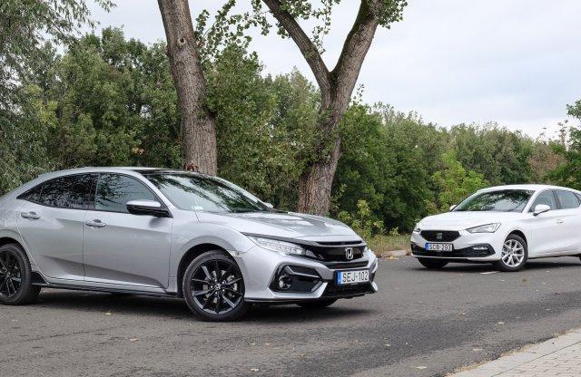 Hasonló ár, magasabb élmény – Honda Civic vs. SEAT Leon