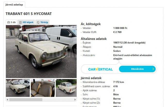 Egymilliót kérnek ezért a Trabantért, nem is ez a különlegessége