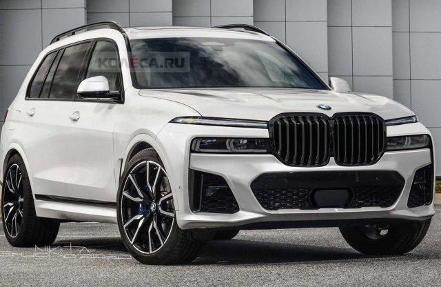 Élethű renderen és újabb kémfotókon a frissített BMW X7