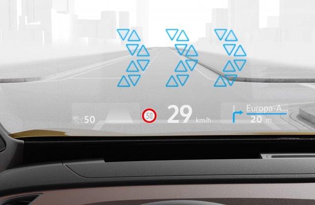 Már átlagautóban is van kiterjesztett valóságos head-up display