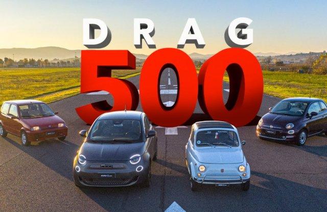 Négy generációnyi Fiat 500 feszült egymásnak a versenypályán