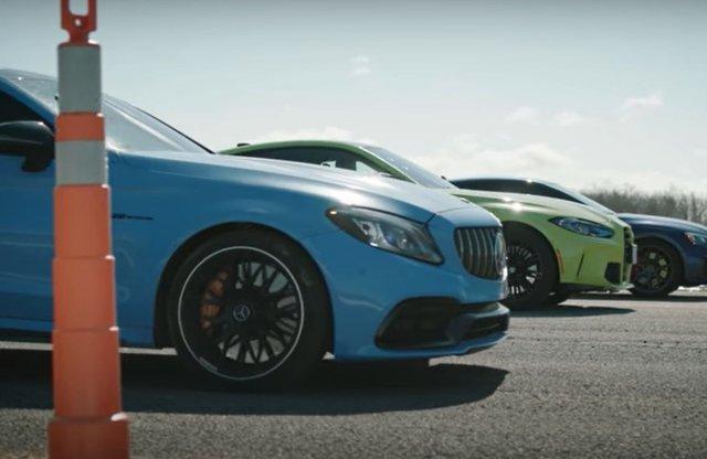 Amikor egymásnak feszül a BMW M4, az Audi RS 5 és az AMG C 63