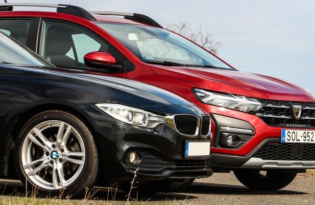 Almát a körtével: egy új Dacia és egy 6 éves BMW, ugyanannyiért