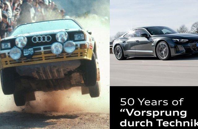 50 éve él az Audi a haladás technikája filozófia szerint