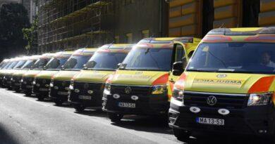 Ezer mentőautót cseréltek le az elmúlt 10 évben