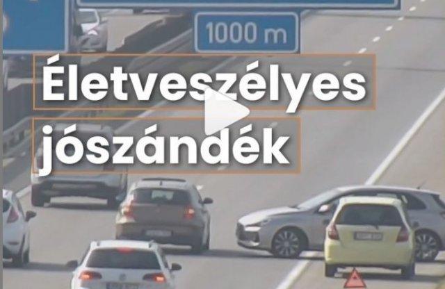 Újabb rémisztő videó a Magyar Közúttól!