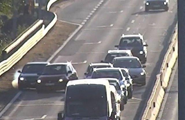 Videón a 8 autós baleset az M51-esen!